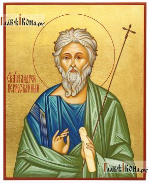 Андрей Первозванный (со свитком), писаная икона