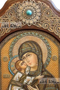 Владимирская икона писанная на бересте, размер 30х45 см - детали образа