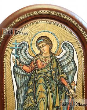 Ростовая икона Ангела Хранителя из бересты - детали образа