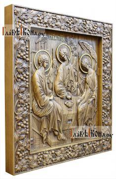 Резная икона Троицы Пресвятой, артикул 22311 - вид сбоку