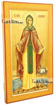 Мерная икона Иулиании Московской, ширина 30 см - вид сбоку