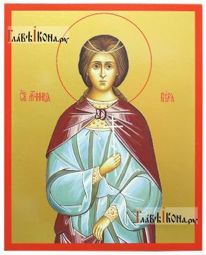 Мученица Вера, икона печатная на доске