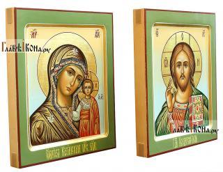 Венчальная пара с Казанской, артикул 301 - вид икон сбоку