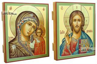 Пара икон рукописных, артикул 308 - вид сбоку