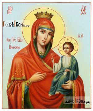 Иверская, рукописная икона маслом, артикул 5322