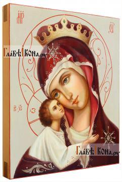 Игоревская Богородица, рукописная икона артикул 262 - вид сбоку