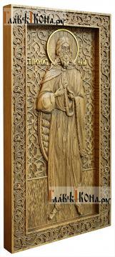 Илия Пророк - резная икона, артикул 25023-01 - вид сбоку