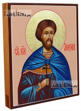 Святой Элизбар Ксанский, рукрписная икона, артикул 6009 - вид сбоку