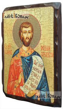 Иоанн Сочавский, состаренная икона 18х24 см - вид сбоку