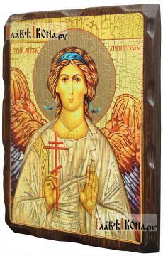 Ангел Хранитель, состаенная икона 18х24 см - вид сбоку