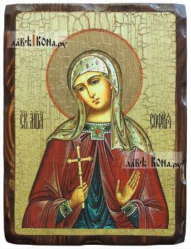София Римская, состаренная икона 18х24 см