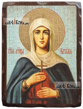Наталья Никомидийская, икона состаренная 18х24 см