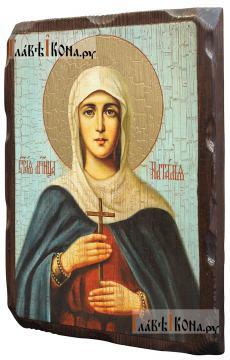 Наталья Никомидийская, икона состаренная 18х24 см - вид сбоку