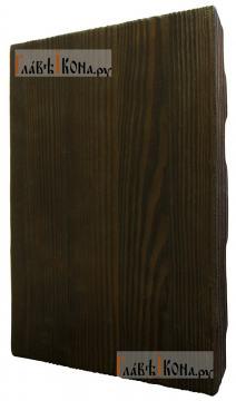 Спас Нерукотворный, живописный стиль - икона состаренная 18х24 см - вид сзади