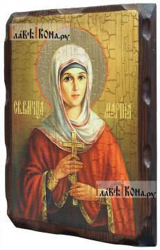 Марина (Маргарита) Антиохийская - икона состаренная 18х24 см - вид сбоку