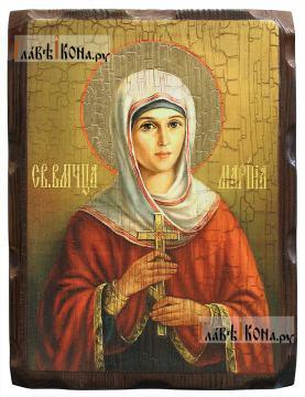 Марина (Маргарита) Антиохийская - икона состаренная 18х24 см