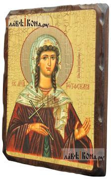 Анна Готфская, икона состаренная 18х24 см - вид сбоку