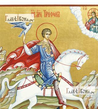 Мученик Трифон икона рукописная, артикул 6023 - детали