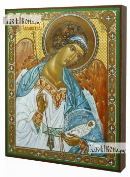 Ангел Хранитель с душой, икона литография - вид сбоку