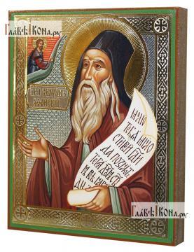 Силуан Афонский, икона литография - вид сбоку