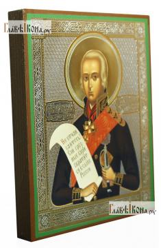 Федор Ушаков, икона литография - вид сбоку