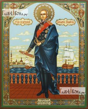 Федор Ушаков ростовой, икона литография