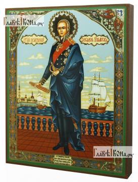 Федор Ушаков ростовой, икона литография - вид сбоку