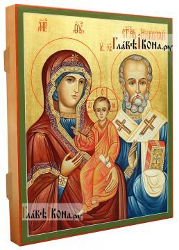 Оковецкая (Ржевская) Божия Матерь, писаная на деревянной доске икона - вид сбоку