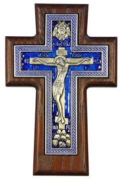 Крест православный покрытый эмалью