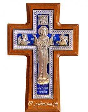 Крест православный с Богородицей  - вар.2