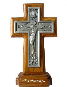 Крест-подставка посеребренный