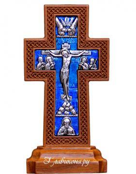 Крест на подставке плетенка