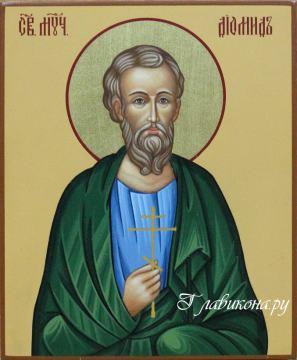 писаная икона мученика Диомида, артикул 558