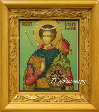 икона Дмитрия Солунского в киоте, артикул 567