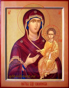 Икона рукописная Смоленской Богородицы, артикул 233