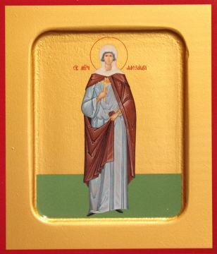 Александра Римская, икона печатная  на доске