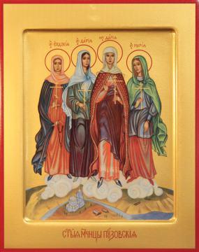 Евдокия, Дария, Дария и Мария икона, артикул 90102