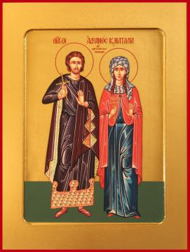 Адриан и Наталия мученики икона, артикул 90003