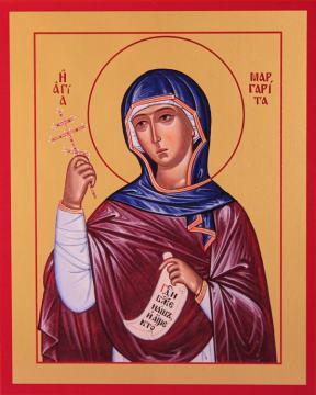 Маргарита Антиохийская, печатная на неделе икона