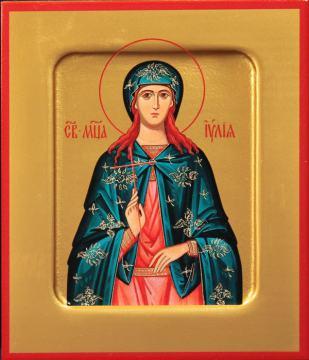 Иулия Карфагенская мученица, печатная на дереве икона