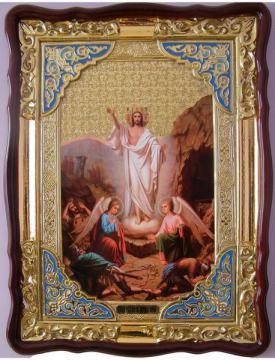 Воскресение икона, храмова икона, размер 60х80 см