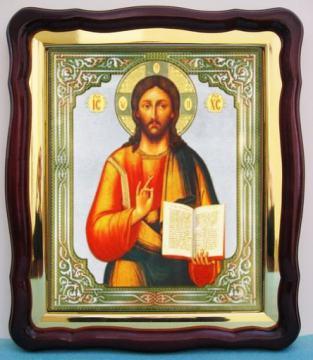 Господь Вседержитель, большая аналойная икона, 43 х 50 см