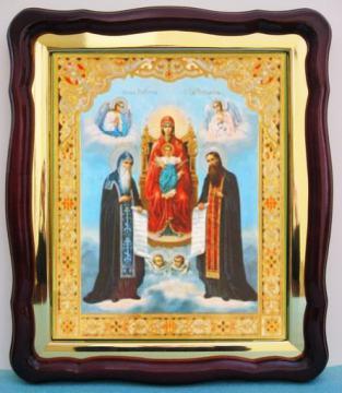 Киево - Печерская Божия Матерь, аналойная икона (43 х 50 см)