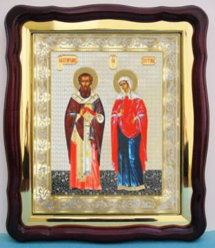 Киприан и Устинья, аналойная икона (43 х 50 см)