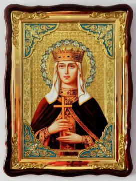 Людмила святая мученица, икона храмовая