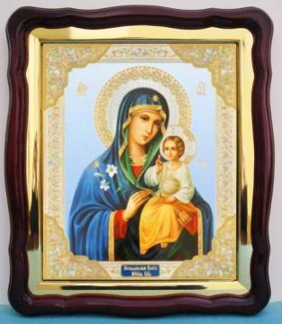 Неувядаемый Цвет Божия Матерь, аналойная икона (43 х 50 см)