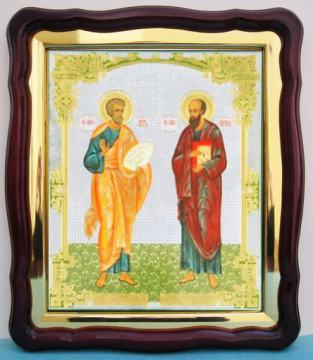 Апостолы Петр и Павел, аналойная икона (43 х 50 см)