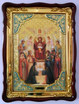 Похвала Божия Матерь, икона храмовая