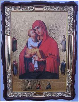 Почаевская Божия Матерь (с предстоящими), икона храмовая
