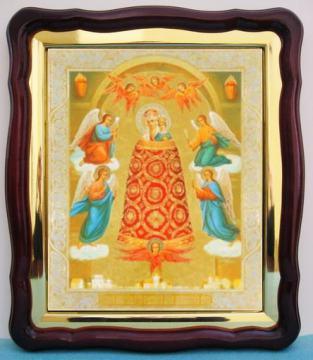 Прибавление ума Божия Матерь, аналойная икона (43 х 50 см)